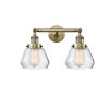 This item: Fulton Antique Brass Two-Light LED Bath Vanity with Clear Glass