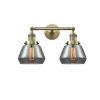 This item: Fulton Antique Brass Two-Light Bath Vanity
