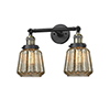 This item: Chatham Black Antique Brass 16-Inch Two-Light Bath Vanity with Mercury Fluted Novelty Glass