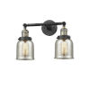 This item: Small Bell Black Antique Brass Two-Light Bath Vanity