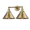 This item: Briarcliff Brushed Brass Two-Light Bath Vanity