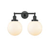 This item: Franklin Restoration Matte Black 19-Inch Two-Light LED Bath Vanity with Matte White Glass Shade