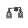 This item: Small Bell Oiled Rubbed Bronze 16-Inch Two-Light LED Bath Vanity with Smoked Bell Glass