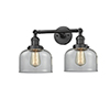 This item: Large Bell Oiled Rubbed Bronze 19-Inch Two-Light LED Bath Vanity with Clear Dome Glass