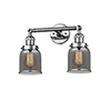 This item: Small Bell Polished Chrome Two-Light Bath Vanity with Smoked Bell Glass