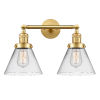 This item: Franklin Restoration Satin Gold 18-Inch Two-Light Bath Vanity with Clear Glass Shade