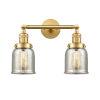 This item: Franklin Restoration Satin Gold 15-Inch Two-Light LED Bath Vanity