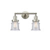 This item: Franklin Restoration Brushed Satin Nickel 17-Inch Two-Light LED Bath Vanity with Seedy Glass Shade