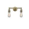 This item: Bare Bulb Antique Brass Two-Light LED Bath Vanity