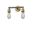 This item: Bare Bulb Brushed Brass Two-Light LED Bath Vanity