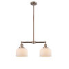 This item: Large Bell Antique Copper 21-Inch Two-Light LED Chandelier