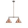 This item: Franklin Restoration Antique Copper Two-Light Chandelier