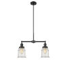 This item: Franklin Restoration Matte Black 10-Inch Two-Light LED Chandelier with Seedy Canton Shade