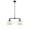 This item: Large Bell Matte Black Two-Light LED Chandelier