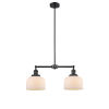 This item: Large Bell Matte Black Two-Light Chandelier