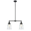 This item: Franklin Restoration Oil Rubbed Bronze 21-Inch Two-Light Chandelier with Clear Canton Shade