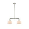 This item: Large Bell Polished Nickel 21-Inch Two-Light Chandelier