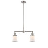 This item: Franklin Restoration Brushed Satin Nickel 10-Inch Two-Light LED Chandelier with Matte White Small Canton Shade