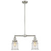 This item: Franklin Restoration Brushed Satin Nickel 10-Inch Two-Light LED Chandelier with Seedy Canton Shade