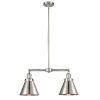 This item: Franklin Restoration Brushed Satin Nickel 23-Inch Two-Light LED Chandelier
