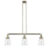 This item: Canton Antique Brass Three-Light Island Pendant with Clear Glass