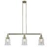 This item: Canton Antique Brass Three-Light Island Pendant with Seedy Glass