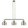 This item: Large Bell Antique Brass Three-Light Adjustable Island Pendant