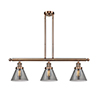This item: Large Cone Antique Copper Three-Light LED Island Pendant with Smoked Cone Glass