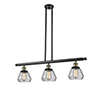 This item: Fulton Black Antique Brass Three-Light LED Island Pendant with Clear Sphere Glass