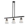 This item: Bellmont Black Antique Brass 36-Inch Three-Light LED Island Pendant with Seedy Hourglass Glass