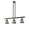 This item: Small Cone Black Antique Brass Three-Light LED Island Pendant with Smoked Cone Glass