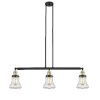 This item: Bellmont Black Antique Brass Three-Light LED Island Pendant with Clear Glass
