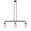 This item: Bellmont Black Antique Brass Three-Light LED Adjustable Island Pendant with Seedy Glass