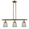 This item: Chatham Brushed Brass Three-Light LED Island Pendant with Clear Fluted Novelty Glass