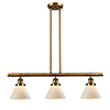 This item: Large Cone Brushed Brass Three-Light LED Island Pendant with Matte White Cased Cone Glass