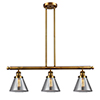 This item: Large Cone Brushed Brass Three-Light LED Island Pendant with Smoked Cone Glass