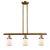 This item: Small Bell Brushed Brass Three-Light Island Pendant with Matte White Cased Bell Glass