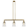 This item: Canton Brushed Brass Three-Light Island Pendant with Seedy Glass