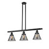 This item: Large Cone Black 36-Inch Three-Light LED Island Pendant with Smoked Cone Glass