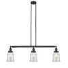 This item: Canton Matte Black Three-Light LED Island Pendant with Clear Glass