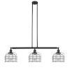 This item: Large Bell Cage Matte Black Three-Light Island Pendant