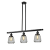 This item: Chatham Oiled Rubbed Bronze Three-Light LED Island Pendant with Clear Fluted Novelty Glass