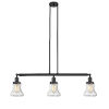 This item: Bellmont Oiled Rubbed Bronze Three-Light LED Island Pendant with Seedy Hourglass Glass