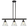 This item: Large Cone Oiled Rubbed Bronze Three-Light LED Island Pendant with Clear Cone Glass