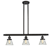 This item: Small Cone Oiled Rubbed Bronze Three-Light LED Island Pendant with Clear Cone Glass