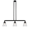 This item: Small Cone Oiled Rubbed Bronze Three-Light Island Pendant with Seedy Cone Glass