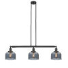 This item: Large Bell Oil Rubbed Bronze Three-Light LED Island Pendant with Smoked Glass