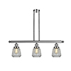 This item: Chatham Polished Nickel Three-Light Island Pendant with Clear Fluted Novelty Glass