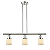 This item: Small Bell Polished Nickel Three-Light LED Island Pendant with Matte White Cased Bell Glass
