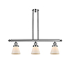 This item: Small Cone Polished Nickel Three-Light LED Island Pendant with Matte White Cased Cone Glass